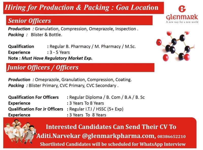Opening At Gelnmark For Production Department