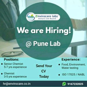 Multiple Opening For Analytical Chemist At Envirocare Labs Pvt Ltd