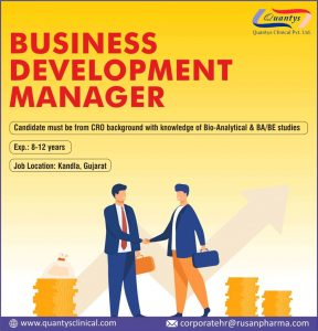 Opening For Business Development At Rusan Opening At Biocon For Quality Assurance (QMS) Department