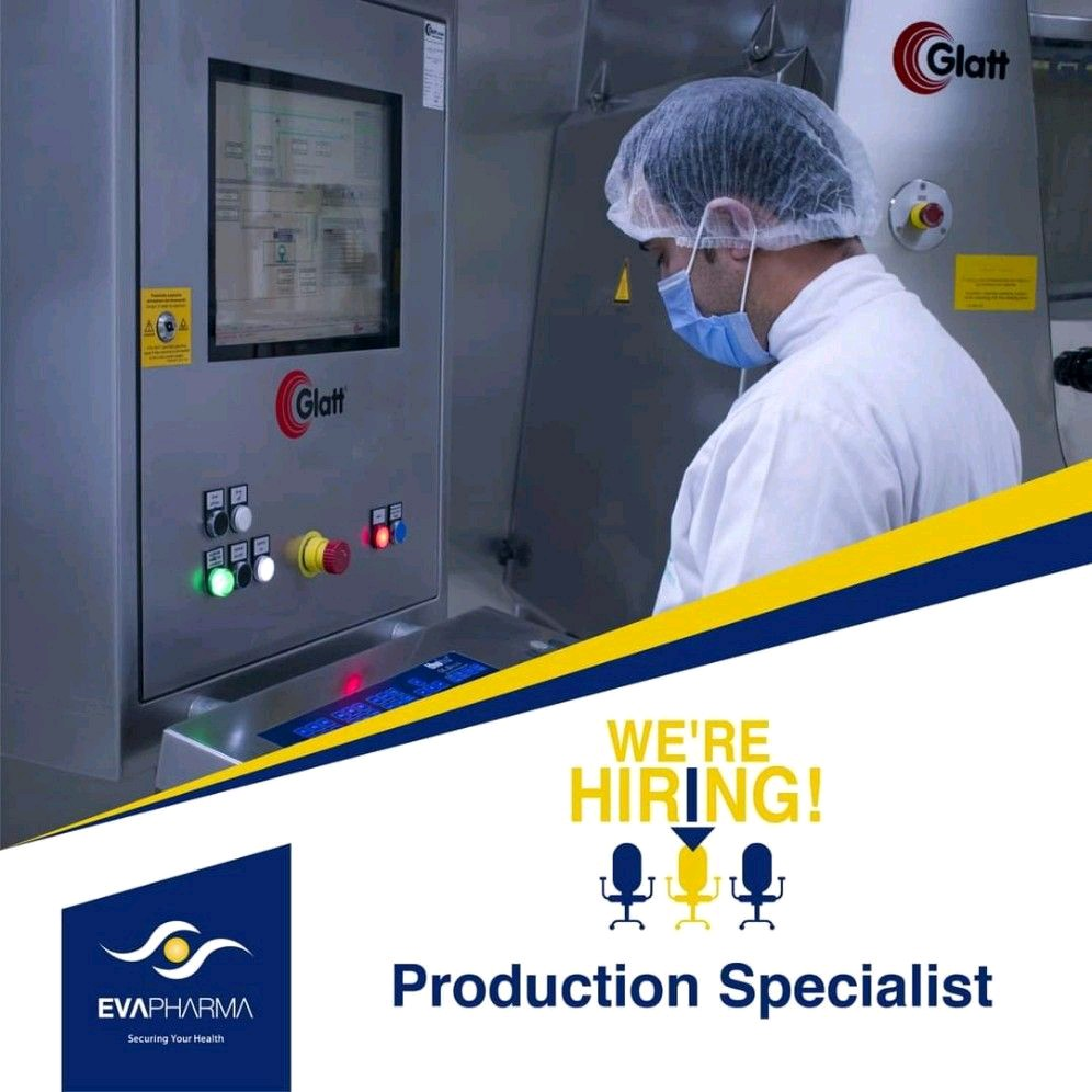 Opening For Freshers In Production Department At Eva Pharma Egypt